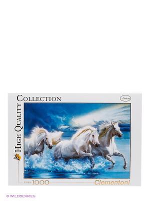 Пазл Белые кони Clementoni. Цвет: белый, голубой, серый