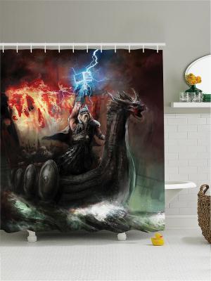 Штора для ванной Magic Lady. Цвет: черный, антрацитовый