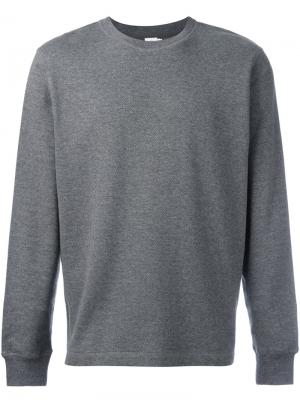Crew neck sweatshirt Sunspel. Цвет: серый