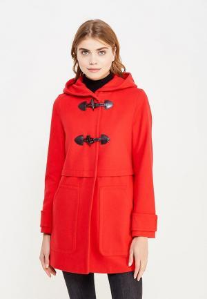 Пальто United Colors of Benetton. Цвет: красный