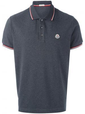 Рубашка-поло с короткими рукавами Moncler. Цвет: серый