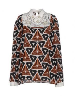 Блузка MARIUCCIA. Цвет: коричневый