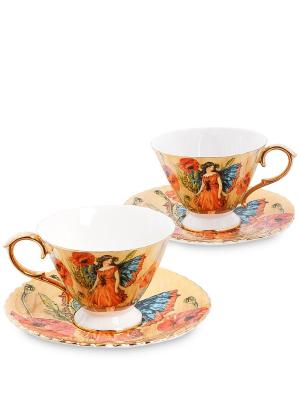 Чайный н-р на 2 перс Дольче Вита  (Pavone) Pavone. Цвет: желтый