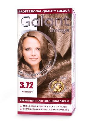 Cтойкая крем-краска для волос GALANT 3.72 кофейный блондин, 115 мл., (Болгария) Image. Цвет: коричневый