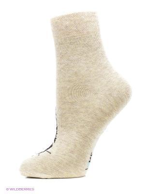 Носки женские Mark Formelle. Цвет: бежевый