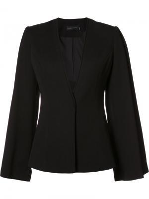 Классический приталенный пиджак Brandon Maxwell. Цвет: чёрный
