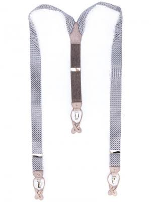 Подтяжки с мелким узором Albert Thurston. Цвет: многоцветный