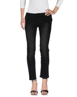 Джинсовые брюки KORALLINE. Цвет: черный