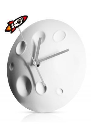 Часы Rocket Moon Suck UK. Цвет: белый