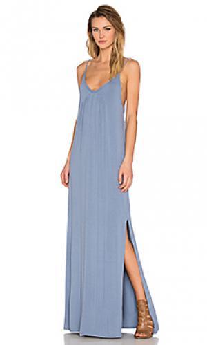 Макси платье molly LA Made. Цвет: синий
