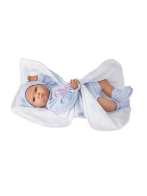 Кукла Берта в голубом, озвученная,52см Antonio Juan. Цвет: светло-голубой