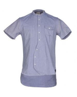 Pубашка WOOSTER + LARDINI. Цвет: синий