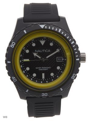 Часы Nautica. Цвет: черный, желтый