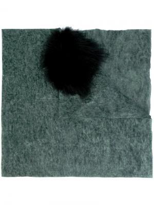 Твидовая шаль Cutuli Cult. Цвет: зелёный