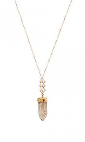 Ожерелье nora Mimi & Lu. Цвет: металлический золотой