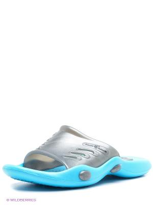 Шлепанцы Mad Wave. Цвет: голубой, серый