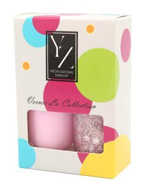 Набор лаков для ногтей YLLOZURE (гель лак+ фактурный лак Фрути Стар) ИЛЛОЗУР. Цвет: розовый