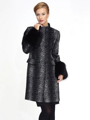 Пальто Pompa. Цвет: черный, белый
