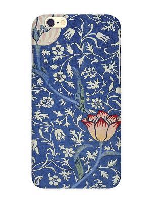 Чехол для IPhone 6 Тюльпан на синем Mitya Veselkov. Цвет: фиолетовый, зеленый