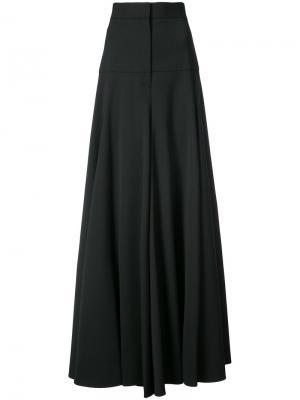 High waisted wide-legged trousers Vera Wang. Цвет: чёрный