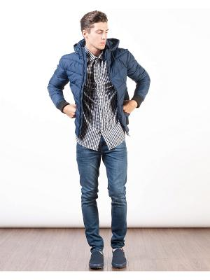 Куртка INCITY. Цвет: темно-синий