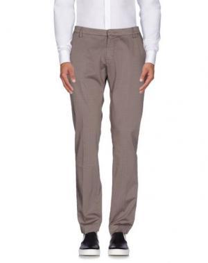Повседневные брюки MICHAEL COAL. Цвет: голубиный серый