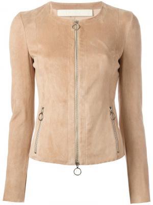 Кожаная куртка на молнии Drome. Цвет: телесный