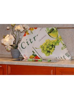 Набор печатных полотенец 2 штуки SET-5 (Вино,Цитрус) в пакете ТекСтиль для дома. Цвет: белый, желтый, зеленый, красный, салатовый