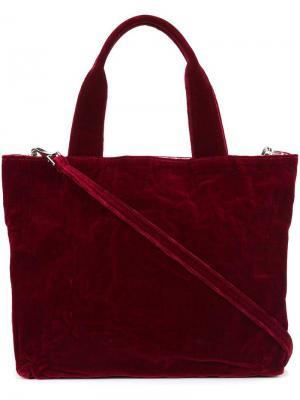 Прямоугольная сумка-тоут среднего размера Zilla. Цвет: красный