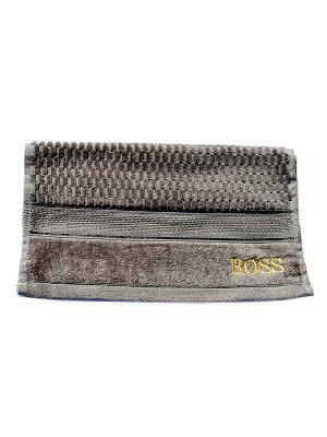 Полотенце Boss 40х70 La Pastel. Цвет: серый