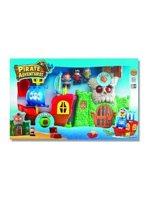 Аналог 10763 Игровой набор Пиратские приключения (свет звук) Keenway. Цвет: коричневый, голубой, красный