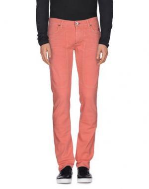Джинсовые брюки JECKERSON. Цвет: лососево-розовый