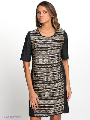 Платье Vis-a-vis. Цвет: черный, золотистый