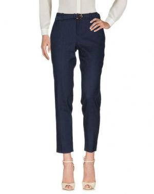 Повседневные брюки GUCCI. Цвет: темно-синий