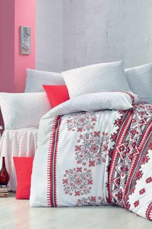 DOUBLE COVER SET Victoria. Цвет: white, red, black