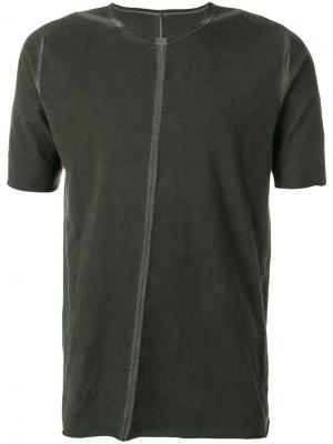 Асимметричная футболка Isaac Sellam Experience. Цвет: зелёный