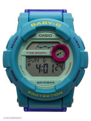 Часы Baby-G BGD-180FB-2E CASIO. Цвет: бирюзовый