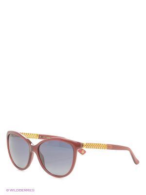 Солнцезащитные очки GUCCI. Цвет: бордовый, золотистый
