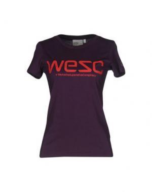 Футболка WESC. Цвет: темно-фиолетовый
