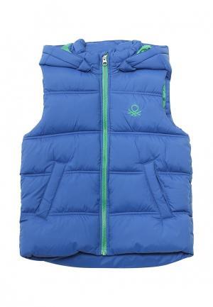 Жилет утепленный United Colors of Benetton. Цвет: синий
