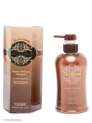 HENNA THERAPY SHAMPOO Шампунь для окрашенных волос с экстрактом хны 500 мл Richenna. Цвет: коричневый