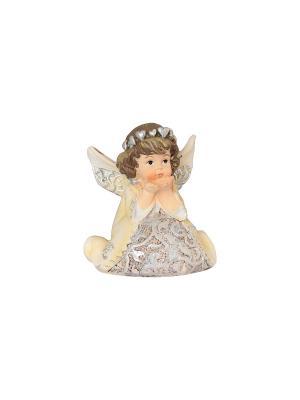 Фигурка декоративная Ангел с сердечками Elan Gallery. Цвет: бежевый
