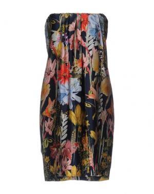 Короткое платье SHIRTAPORTER. Цвет: темно-синий