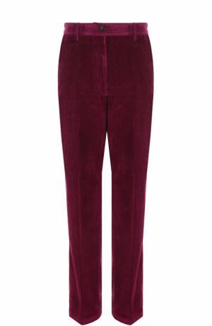 Вельветовые брюки прямого кроя Dries Van Noten. Цвет: фуксия