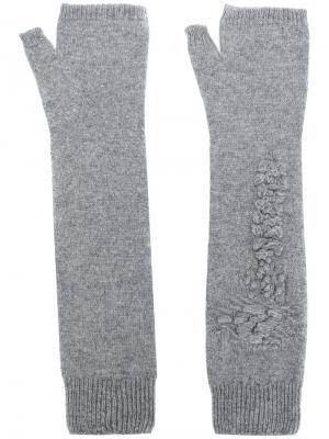 Перчатки-митенки Barrie. Цвет: серый