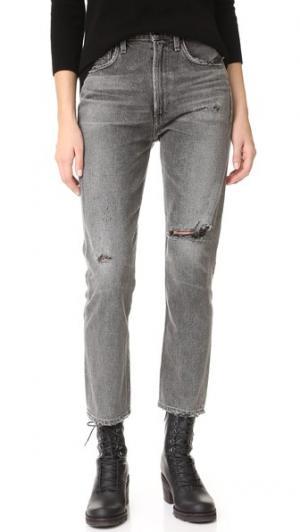 Укороченные узкие прямые джинсы Dree с высокой посадкой Citizens of Humanity. Цвет: disrupt