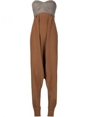 Комбинезон с брюками-шароварами Dominic Louis. Цвет: телесный