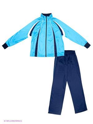 Спортивный костюм ADDIC. Цвет: темно-синий, голубой