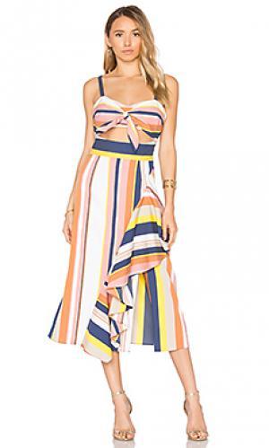 Платье claire Tanya Taylor. Цвет: розовый