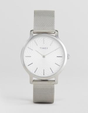 Timex Серебристые часы TW2R36200 Skyline 34 мм. Цвет: серебряный
